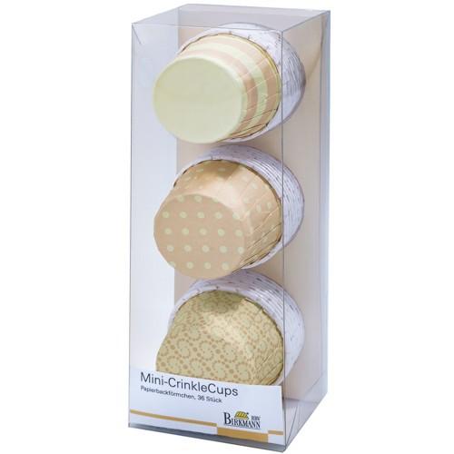 Mini Muffinförmchen Cupcake Papier Cups Crinkle gelb Birkmann 36 Stück