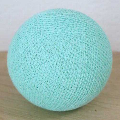 Cotton Ball Lights Kugel mint grün türkis für Bälle Lichterkette Baumwolle