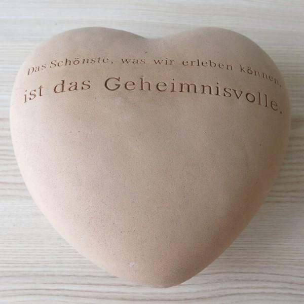 Räder Poetry Hearts Das Schönste ist das Geheimnisvolle Herz Keramik gross
