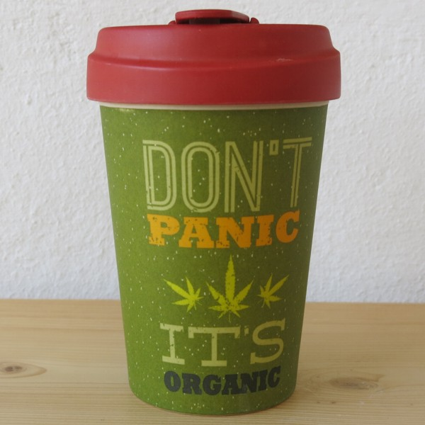 Bamboo Cup Coffee to go Becher Don`t panic it`s organic