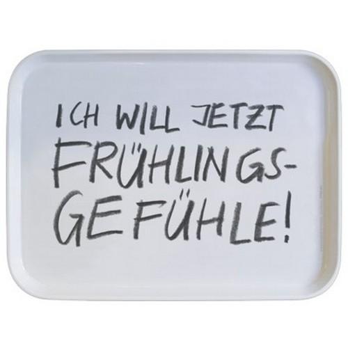 Rannenberg & Friends Tablett Ich will jetzt Frühlingsgefühle Serviertablett 30 x 21 cm