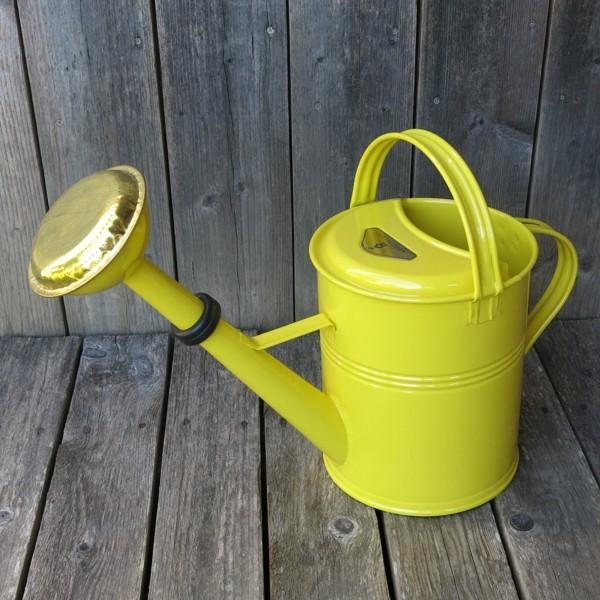 Gießkanne Zink gelb 5 l Zinkgießkanne verzinkt Metall