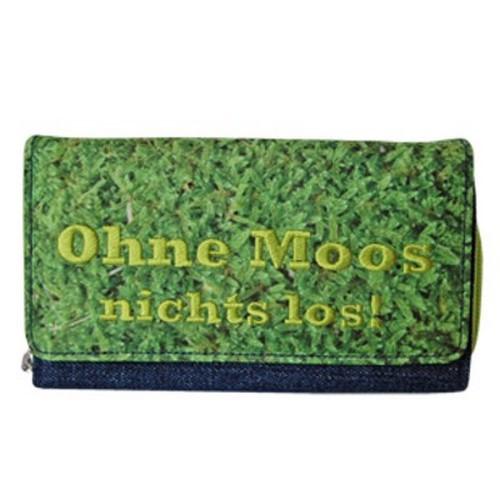 Geldbörse Geldbeutel Ohne Moos nicht los Blümchen & Ko