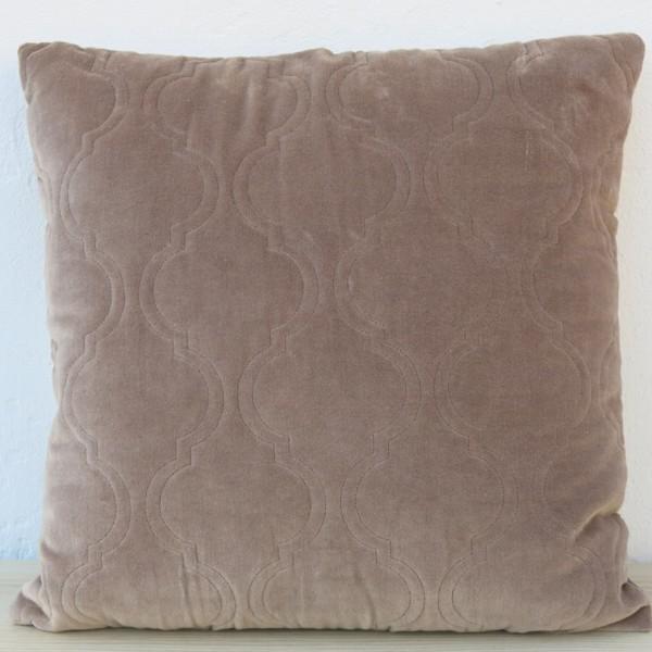 Kissen Moroccan Velvet taupe 45 x 45 cm Samt mit Füllung