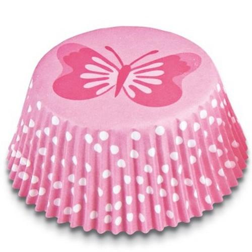 Muffinförmchen Cupcake Papierförmchen Muffin Schmetterling rosa Städter
