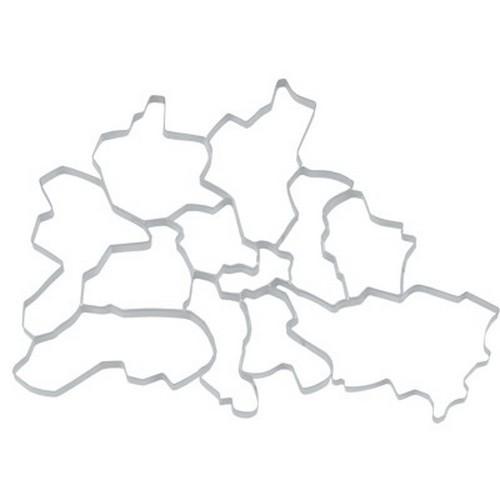 Ausstechform Berlin Ausstecher Set Bezirke Stadtteile 12 Stück