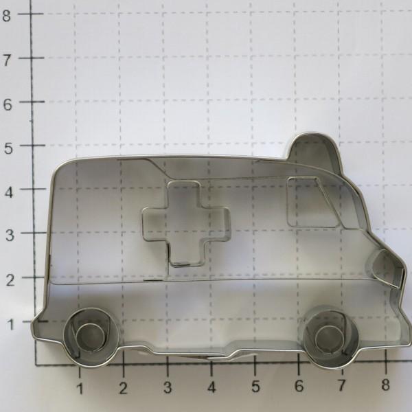 Ausstechform Krankenwagen 8 cm Präge Ausstecher Städter