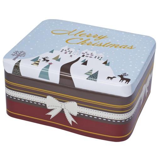 Plätzchendose Merry Christmas Winterland Keksdose Dose Blechdose Gebäckdose 15 x 13 x 7 cm Birkmann