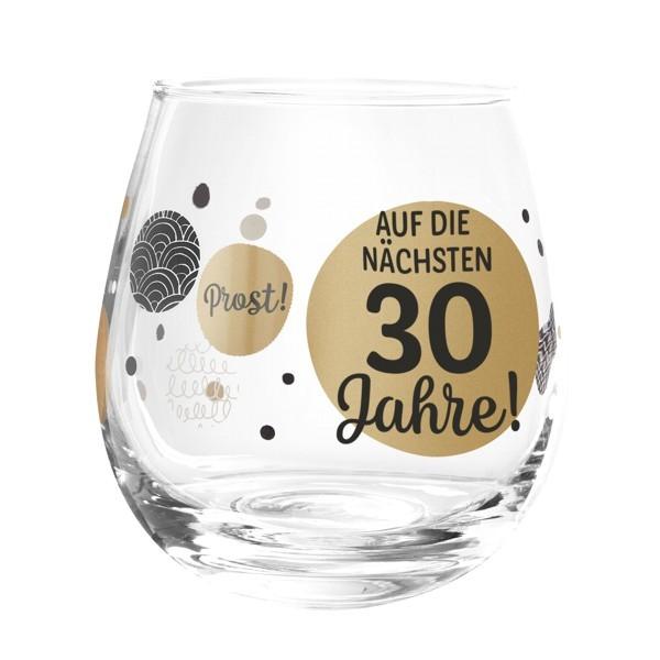 Formano Glas Spruch Auf die nächsten 30 Jahre Geburtstag Prosit Wein Cocktail