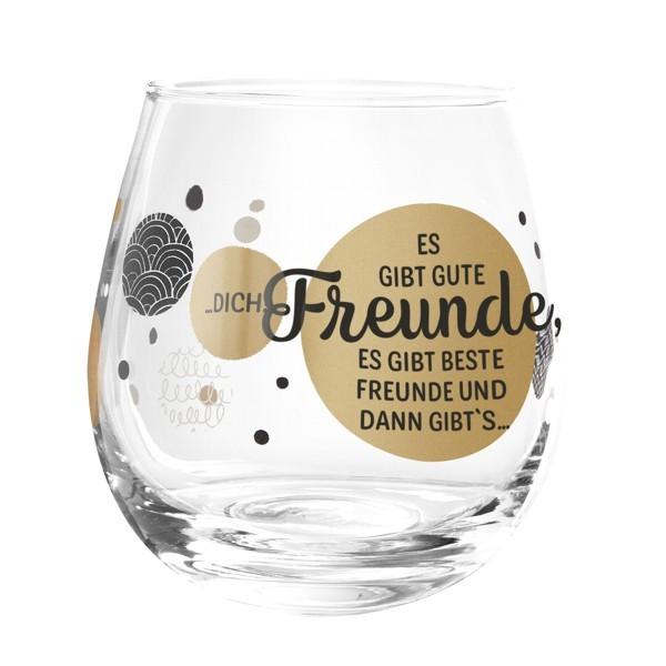 Formano Glas Spruch Es gibt gute beste Freunde und dich Wein Cocktail Gin