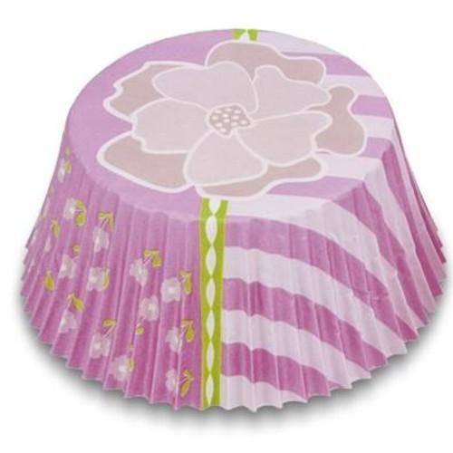 MINI Muffinförmchen Cupcake Papierförmchen Muffin Blume pink Städter