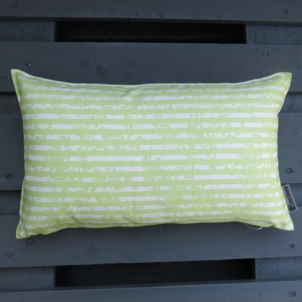Outdoor Kissen Little Stripes grün 50 x 30 cm Newstalgie
