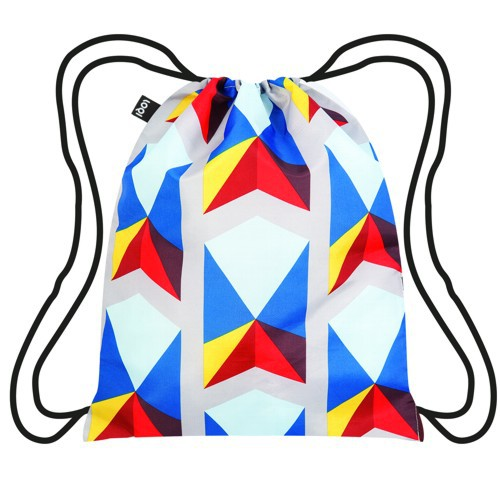 LOQI backpack GEOMETRIC Triangles Rucksack Turn Beutel Sport Hipster