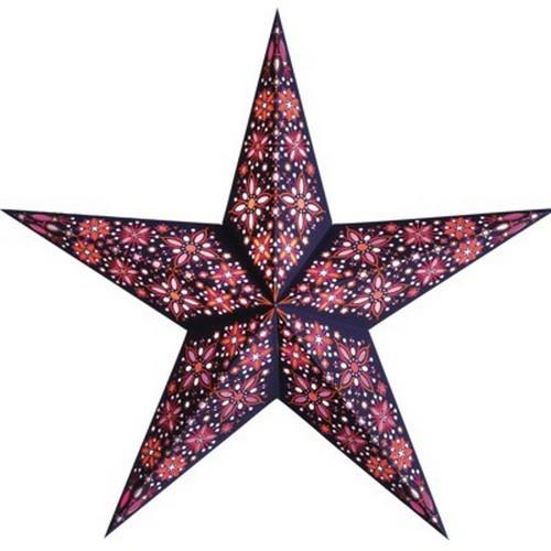 Starlightz Frankie rot pink Leuchtstern Papier Stern Lampe Weihnachtsstern