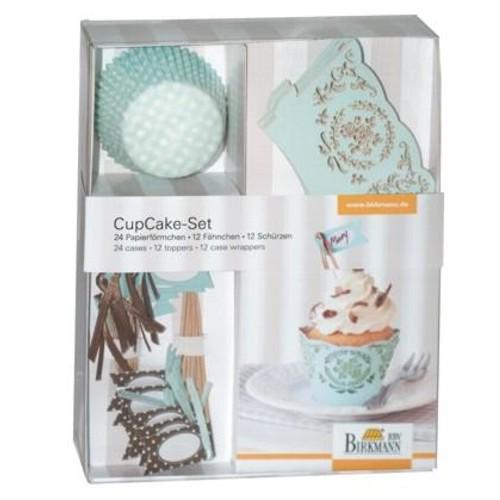 Muffinförmchen Cupcake Papierförmchen Muffin Deko Set Mint Karo Birkmann